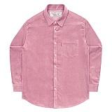 [언더에어] UNDERAIR 8w Corduroy Shirts - Pink 코듀로이 셔츠 남방