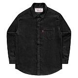 [언더에어] UNDERAIR 8w Corduroy Shirts - Black 코듀로이 셔츠 남방