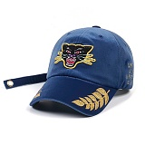 STIGMA - BLACK PANTHER VELVET BASEBALL CAP BLUE 야구모자 볼캡