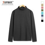 탑보이 - 남녀공용 모크넥 기모반폴라 티셔츠 (CA236) 터틀넥