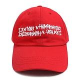 [아임낫어휴먼비잉]IAMNOTAHUMANBEING BASIC LOGO BALL CAP RED 볼캡 야구모자