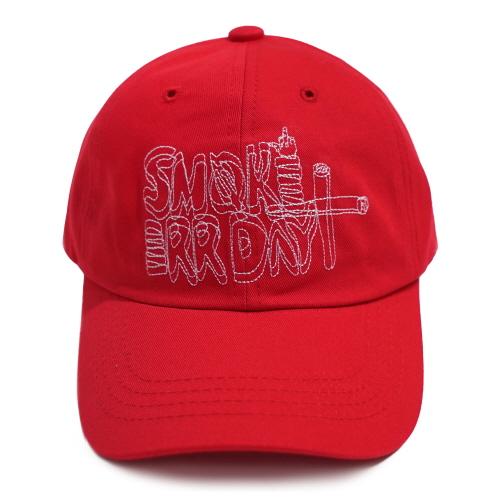 [아임낫어휴먼비잉] SMOKE ERR DAY BALL CAP RED 볼캡 야구모자