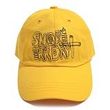 [아임낫어휴먼비잉]IAMNOTAHUMANBEING SMOKE ERR DAY BALL CAP YELLOW 볼캡 야구모자