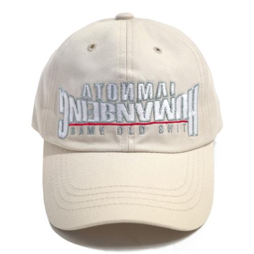 [아임낫어휴먼비잉] ARCH.VER BASIC LOGO BALL CAP IVORY 볼캡 야구모자
