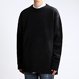 [쟈니웨스트] JHONNYWEST - Lambs Wool 8 Cable Knit (Black) 울 니트