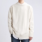 [쟈니웨스트] JHONNYWEST - Lambs Wool 8 Cable Knit (Cream) 울 니트