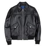 [슬로우유니버스] (WOMAN) lambskin A-1 jacket (Black) 양가죽 항공자켓 재킷