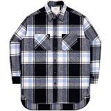 [언더에어] UNDERAIR Alvin Shirts - Sky Blue 긴팔 체크셔츠 남방