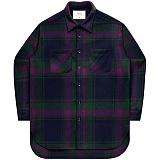 [언더에어] UNDERAIR Alvin Shirts - Green 긴팔 체크셔츠 남방
