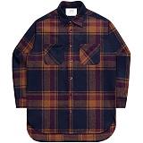 [언더에어] UNDERAIR Alvin Shirts - Brown 긴팔 체크셔츠 남방