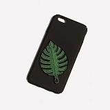 [러쉬오프] RUSHOFF Green Leaf Patch Phonecase /  그린리프 패치 아이폰 폰케이스