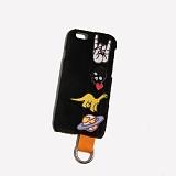 [러쉬오프] RUSHOFF Patch Options Black Fur Phonecase 패치 옵션 블랙퍼 아이폰 폰케이스