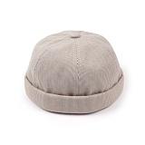 [웨이워드]WAYWARD - Stripe watch cap[Beige] 와치캡 챙없는 캡없는 모자 비니