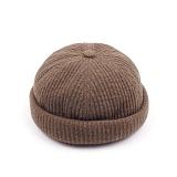 [웨이워드]WAYWARD - Nnit watch cap[khaki] 와치캡 챙없는 캡없는 모자 비니