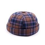 [웨이워드]WAYWARD - Check watch cap[Brown] 와치캡 챙없는 캡없는 모자 비니