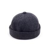 [웨이워드]WAYWARD - Herringbone watch cap[Brown] 와치캡 챙없는 캡없는 모자 비니