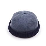 [웨이워드]WAYWARD - Two-tone watch cap[Navy] 와치캡 챙없는 캡없는 모자 비니