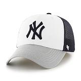 47Brand - MLB모자 뉴욕 양키즈 화이트그레이 메쉬 볼캡 야구모자
