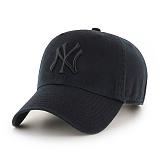 47Brand - MLB모자 뉴욕 양키즈 올 블랙 클린업(한정) 볼캡 야구모자