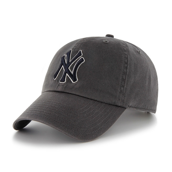 47브랜드 - MLB모자 뉴욕 양키즈 차콜 빈티지 볼캡 야구모자