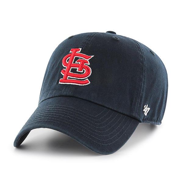 47브랜드 - MLB모자 세인트루이스 네이비 레드로고 볼캡 야구모자