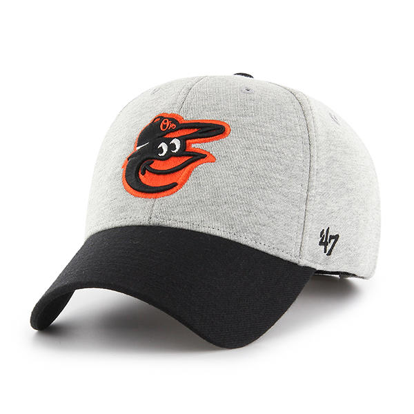 47브랜드 - MLB모자 볼티모어 올리어스 울 그레이 블랙 볼캡 야구모자