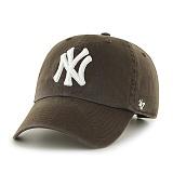 47Brand - MLB모자 뉴욕 양키즈 초코 화이트로고 볼캡 야구모자