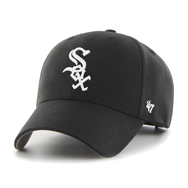 47브랜드 - MLB모자 시카고 화이트삭스 블랙 스트럭처 볼캡 야구모자