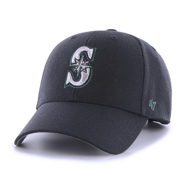 47브랜드 - MLB모자 시애틀 매리너스 네이비 스트럭처 볼캡 야구모자
