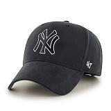 47Brand - MLB모자 뉴욕 양키즈 블랙 스트럭처 라인 볼캡 야구모자