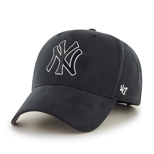 47브랜드 - MLB모자 뉴욕 양키즈 블랙 스트럭처 라인 볼캡 야구모자