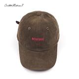 [커스텀루틴7]CUSTOMROUTINE7 - Corduroy ROUTINE (Khaki) 코듀로이 골덴 볼캡 모자