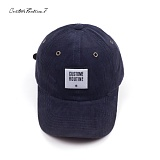 [커스텀루틴7]CUSTOMROUTINE7 - Corduroy squareCR (Navy) 볼캡 모자