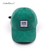 [커스텀루틴7]CUSTOMROUTINE7 - Corduroy squareCR (Green) 볼캡 모자
