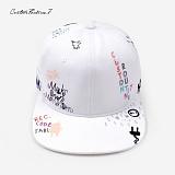 [커스텀루틴7]CUSTOMROUTINE7 - Grafifti (White) 스냅백 모자