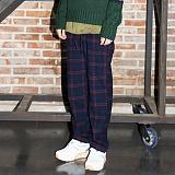 [깅엄버스]GINGHAMBUS - Over Check Wool Wide Pants(2color)(unisex) 오버 체크 울 와이드 팬츠 체크팬츠 체크바지