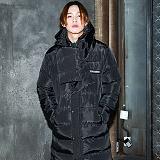 [깅엄버스]GINGHAMBUS - Muffler Long Padding Coat(unisex) 머플러 롱 패딩 코트