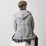 [어나더프레임] ANOTHER FRAME - NEW FRAME HOOD ZIP-UP (GRAY) 기모 후드집업