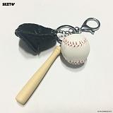 SEXTO - 야구(BASEBALL)BLACK 키링 가방장식