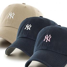 47브랜드 - MLB모자 뉴욕 양키즈 미니로고 3종 볼캡 야구모자
