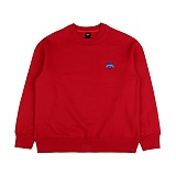 [아이넨]EINEN-Small Heart Crown Napping Sweatshirts Red 기모 맨투맨 크루넥 스��셔츠