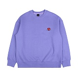[아이넨]EINEN-Small Heart Crown Napping Sweatshirts Purple 기모 맨투맨 크루넥 스��셔츠