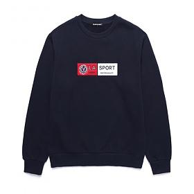 밴웍스 FELT 가슴 포인트 스웨트셔츠 네이비(VNAGTS306)