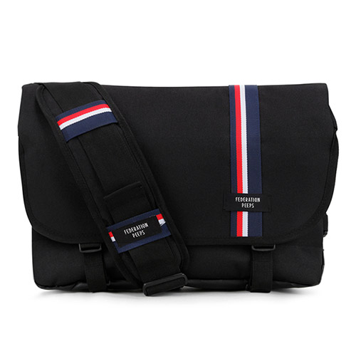 [핍스] essential messenger bag(stripe_black) 에센셜 메신저백