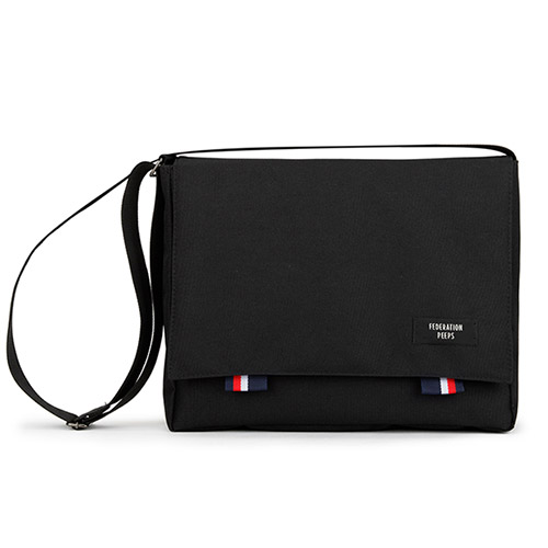 핍스 5주년 PEEPS bridge messenger bag(black)