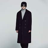 [아파트먼트]APT Magpie Double Coat - Black 더블코트