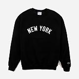 [챔피온]CHAMPION NEW YORK CREWNECK (BLACK) 맨투맨 크루넥 스��셔츠