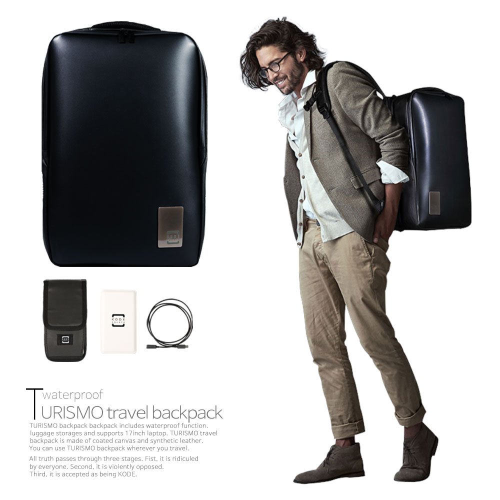 [코드스퀘어] 투리스모 무선충전 방수 여행용 백팩 17인치 노트북 호환 캐리어 수납 BP11WF