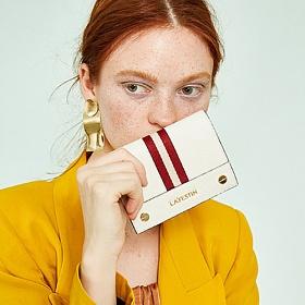라페스틴 - The Stripe (3color) 소가죽 여성지갑