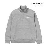 [칼하트WIP] CARHARTT WIP - Shatter Script Sweatshirt (Grey Heather) 기모 하프집업 맨투맨 아노락 스��셔츠
